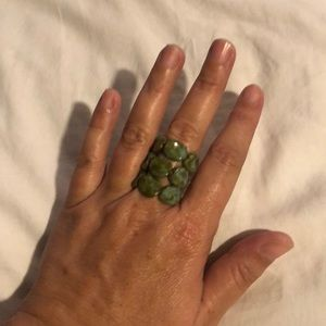 Turquoise ring. Stretchy- wear on any finger!